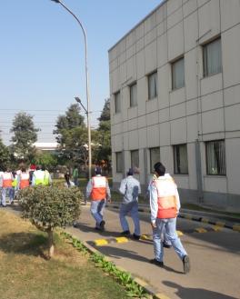 Practical orientation of Evacuation Drill